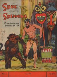 Cover Thumbnail for Spøk og Spenning (Magasinet For Alle, 1941 series) #5/1941
