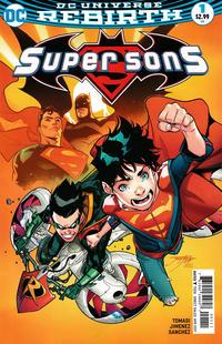 Cover for Super Sons (DC, 2017 series) #1 [Francesco Mattina Black and White Cover]