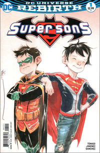 Cover Thumbnail for Super Sons (DC, 2017 series) #1 [Dustin Nguyen Variant]