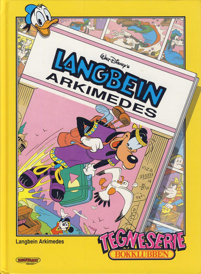 Cover for Tegneseriebokklubben (Hjemmet / Egmont, 1985 series) #82 - Langbein Arkimedes; Mikrofolkets merkelige meritter: Bermudatriangelet