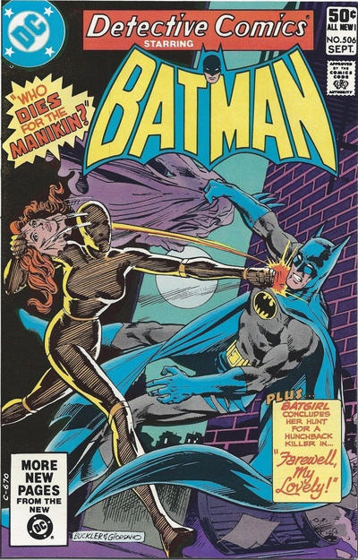 Cover for Detective Comics (DC, 1937 series) #506 [Direct Edition]