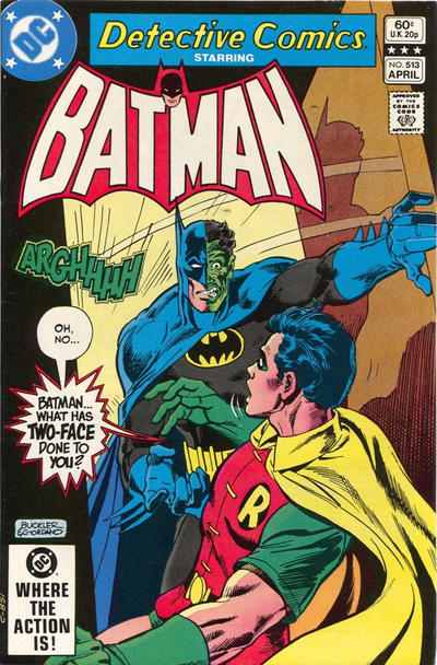 Cover for Detective Comics (DC, 1937 series) #513 [Direct Edition]