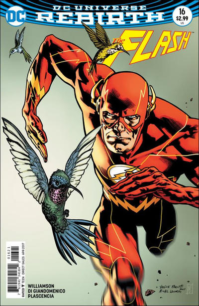 Cover for The Flash (DC, 2016 series) #16 [Carmine Di Giandomenico Cover]