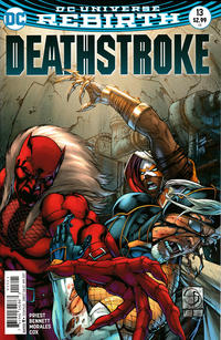 Cover Thumbnail for Deathstroke (DC, 2016 series) #13 [Shane Davis / Michelle Delecki Cover]