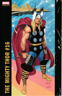 Cover Thumbnail for Mighty Thor (Marvel, 2016 series) #16 [Incentive Joe Jusko Corner Box Variant]