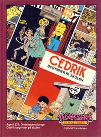 Cover Thumbnail for Tegneseriebokklubben (Hjemmet / Egmont, 1985 series) #60 - Agent 327: Ondskapens tunge; Cedrik begynner på skolen