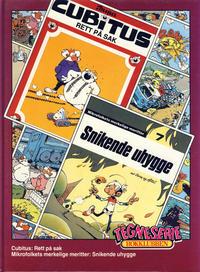Cover Thumbnail for Tegneseriebokklubben (Hjemmet / Egmont, 1985 series) #65 - Mikrofolkets merkelige meritter: Snikende uhygge; Cubitus: Rett på sak