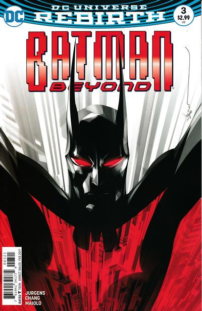 Cover for Batman Beyond (DC, 2016 series) #3 [Bernard Chang Cover]