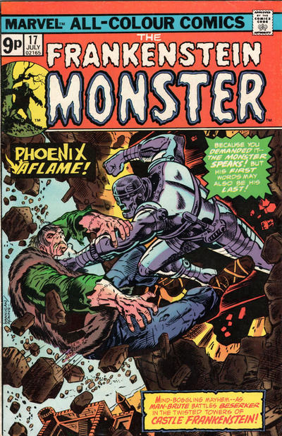 Cover for Frankenstein (Marvel, 1973 series) #17 [British]