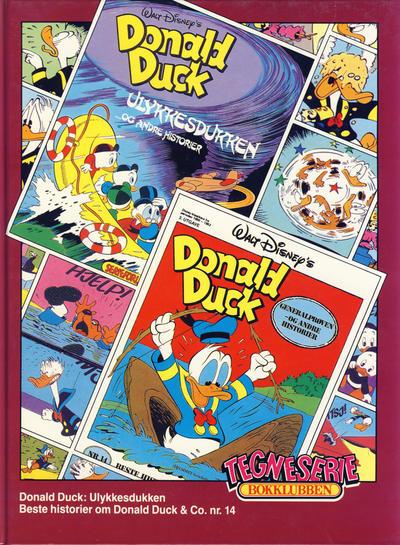 Cover for Tegneseriebokklubben (Hjemmet / Egmont, 1985 series) #67 - Donald Duck: Ulykkesdukken; Beste historier om Donald Duck & Co. nr. 14