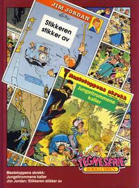 Cover Thumbnail for Tegneseriebokklubben (Hjemmet / Egmont, 1985 series) #70 - Mastetoppens skrekk: Jungeltrommene kaller; Jim Jordan: Stikkeren stikker av