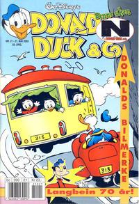 Cover Thumbnail for Donald Duck & Co (Hjemmet / Egmont, 1948 series) #21/2002