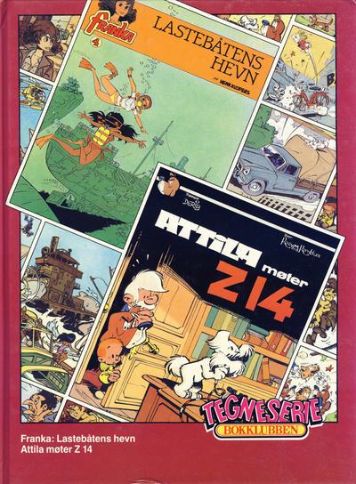 Cover for Tegneseriebokklubben (Hjemmet / Egmont, 1985 series) #68 - Franka: Lastebåtens hevn; Attila møter Z 14