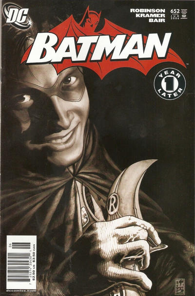 Cover for Batman (DC, 1940 series) #652 [2nd Printing Variant]