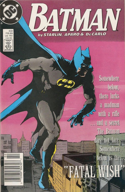 Cover for Batman (DC, 1940 series) #430 [Direct Edition]