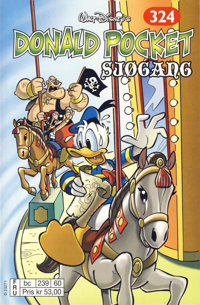 Cover for Donald Pocket (Hjemmet / Egmont, 1968 series) #324 - Sjøgang [1. opplag]