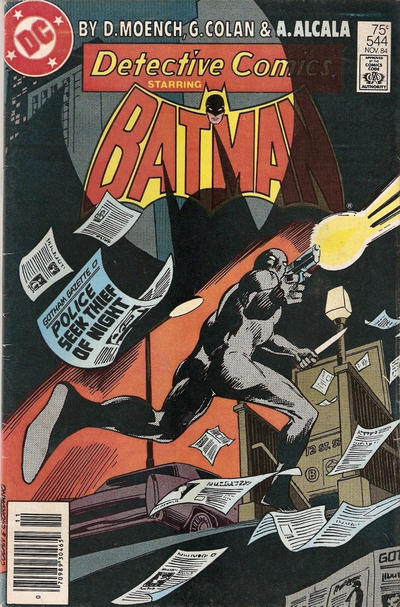 Cover for Detective Comics (DC, 1937 series) #544 [Canadian Newsstand]