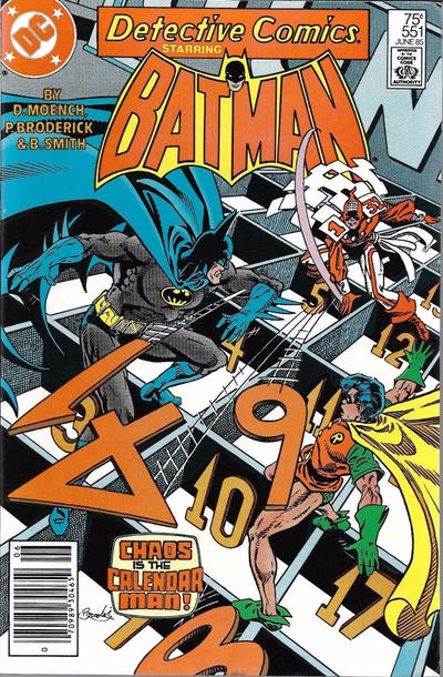 Cover for Detective Comics (DC, 1937 series) #551 [Direct Sales]