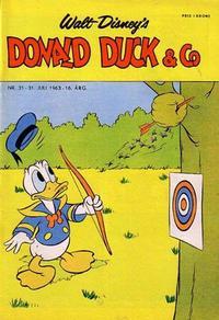 Cover Thumbnail for Donald Duck & Co (Hjemmet / Egmont, 1948 series) #31/1963