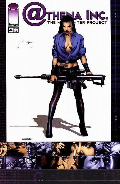 Cover for Athena Inc. The Manhunter Project (Image, 2002 series) #4 [Cover A]