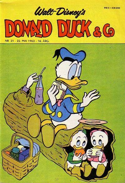 Cover for Donald Duck & Co (Hjemmet / Egmont, 1948 series) #21/1963