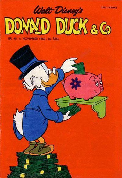 Cover for Donald Duck & Co (Hjemmet / Egmont, 1948 series) #45/1963