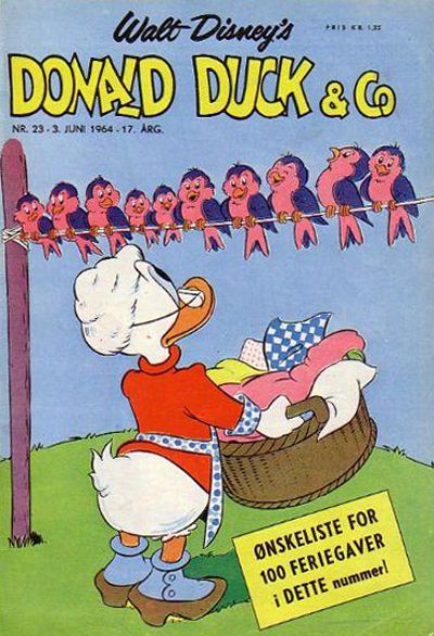 Cover for Donald Duck & Co (Hjemmet / Egmont, 1948 series) #23/1964