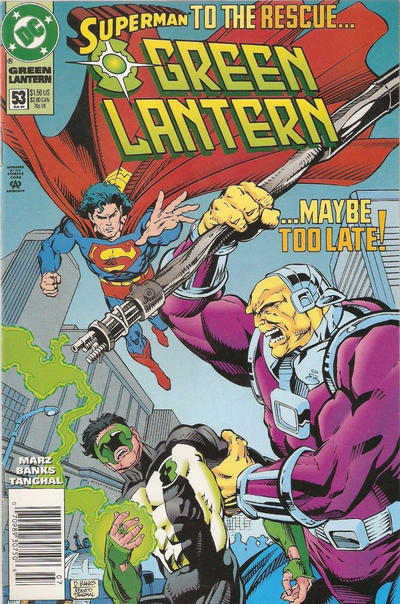 Cover for Green Lantern (DC, 1990 series) #53 [Direct Sales]