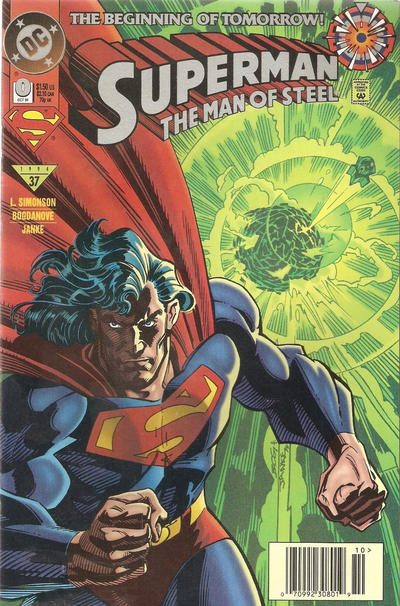 Cover for Superman: The Man of Steel (DC, 1991 series) #0 [Direct Edition]