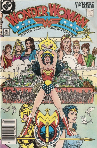 Cover for Wonder Woman (DC, 1987 series) #1 [Direct Edition]