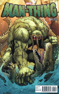 Cover Thumbnail for Man-Thing (Marvel, 2017 series) #1 [Incentive Ron Lim 'Man-Thing and the Marvel Universe' Variant]