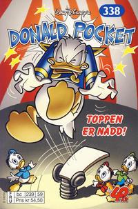Cover Thumbnail for Donald Pocket (Hjemmet / Egmont, 1968 series) #338 - Toppen er nådd! [bc 239 59 FRU]