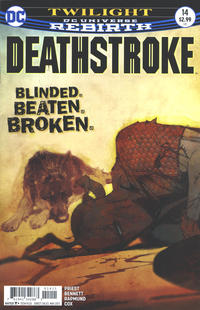Cover Thumbnail for Deathstroke (DC, 2016 series) #14 [Bill Sienkiewicz Cover Variant]