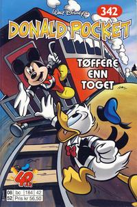 Cover Thumbnail for Donald Pocket (Hjemmet / Egmont, 1968 series) #342 - Tøffere enn toget [1. opplag]