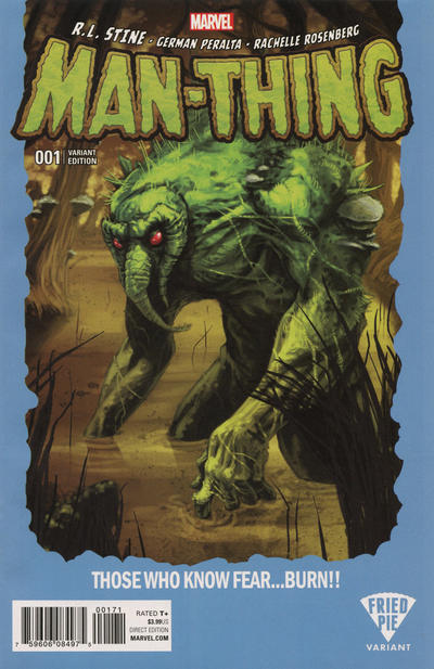 Cover for Man-Thing (Marvel, 2017 series) #1 [Fried Pie Exclusive Kalman Andrasofszky Variant]