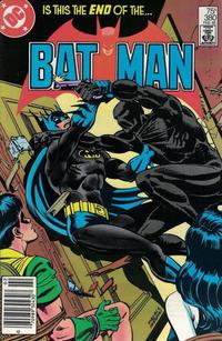 Cover Thumbnail for Batman (DC, 1940 series) #380 [Newsstand]