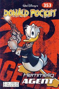 Cover Thumbnail for Donald Pocket (Hjemmet / Egmont, 1968 series) #353 - Hemmelig agent [bc 239 58 FRU]