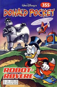 Cover Thumbnail for Donald Pocket (Hjemmet / Egmont, 1968 series) #355 - Robotrøvere [bc 239 58 FRU]