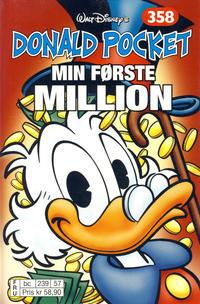Cover Thumbnail for Donald Pocket (Hjemmet / Egmont, 1968 series) #358 - Min første million [bc 239 57 FRU]
