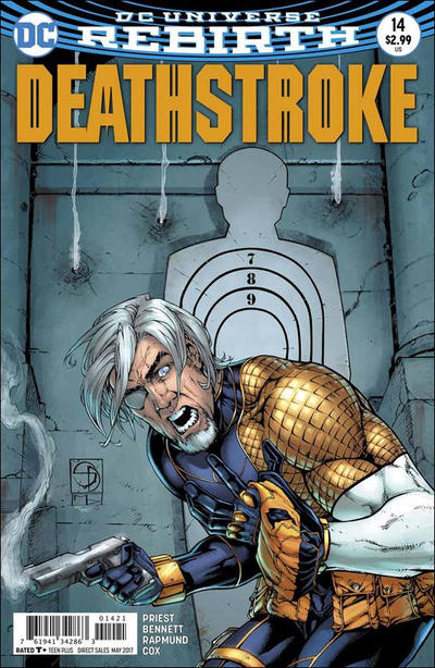 Cover for Deathstroke (DC, 2016 series) #14 [Bill Sienkiewicz Cover Variant]