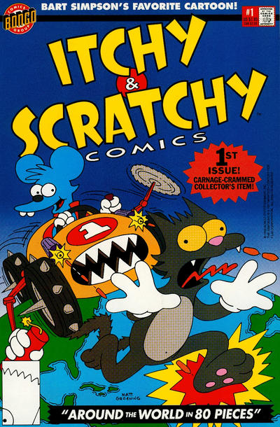 Cover for Itchy & Scratchy Comics (Bongo, 1993 series) #1