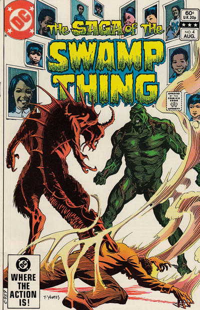 Cover for The Saga of Swamp Thing (DC, 1982 series) #4 [Direct Sales]