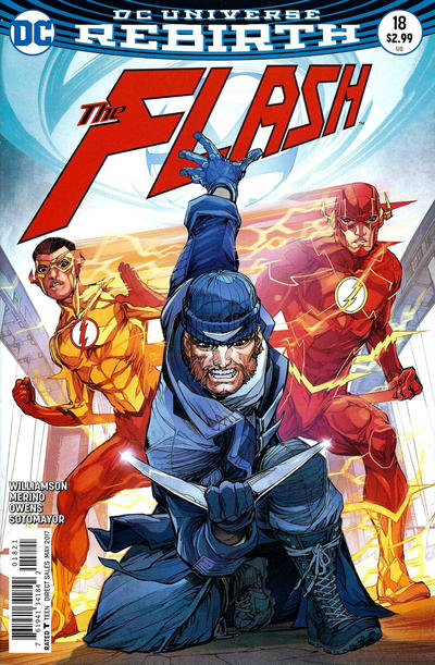 Cover for The Flash (DC, 2016 series) #18 [Newsstand]