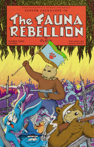 Cover for The Fauna Rebellion (Fantagraphics, 1990 series) #3