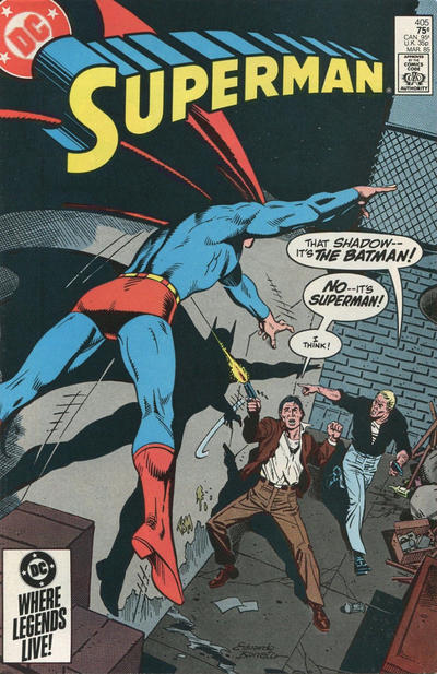 Cover for Superman (DC, 1939 series) #405 [Direct Sales]