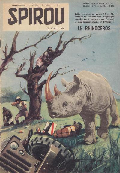 Cover for Spirou (Dupuis, 1947 series) #941