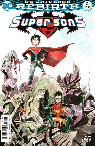 Cover for Super Sons (DC, 2017 series) #2 [Dustin Nguyen Cover]