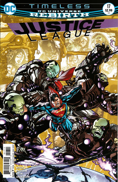 Cover for Justice League (DC, 2016 series) #17 [Yanick Paquette Cover Variant]