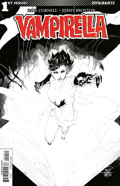 Cover for Vampirella (Dynamite Entertainment, 2017 series) #1 [Cover I Retailer Incentive 'Virgin' Linsner]