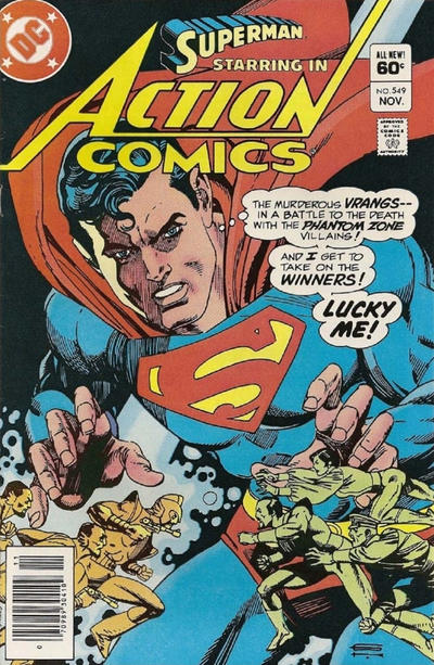 Cover for Action Comics (DC, 1938 series) #549 [Direct-Sales]